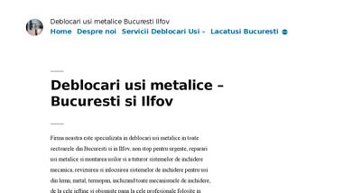 Deblocari usi metalice non stop Bucuresti si Ilfov