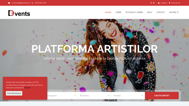 Devents - Platforma Artistilor