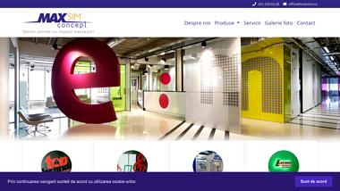 MAXSIM productie publicitara, solutii complete de signalistica pentru interior si exterior