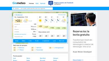 GISMETEO: Vremea în România