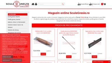 Scule Si Unelte - Capace Camine, Stergatoare de Intrare, Placute Stelcon, Scule Gresie/Faianta