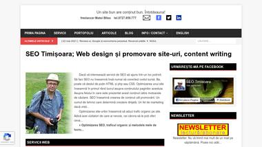 Optimizare SEO Timisoara promovare site web design